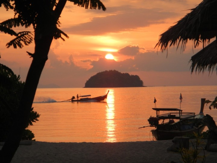 sunset beach on ko lipe